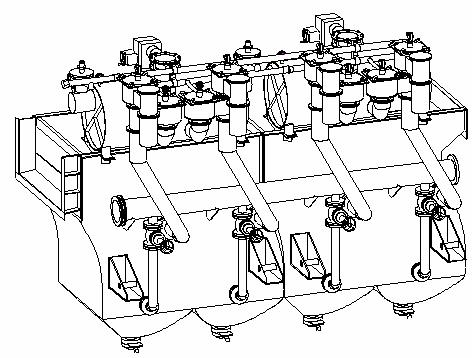 Машина отсадочная ВБ-2,5х2-М (без роторного разгрузчика)