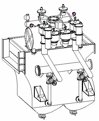 Машина отсадочная ВБ-2,5х1-М (без роторного разгрузчика) для обогащения руд черных,