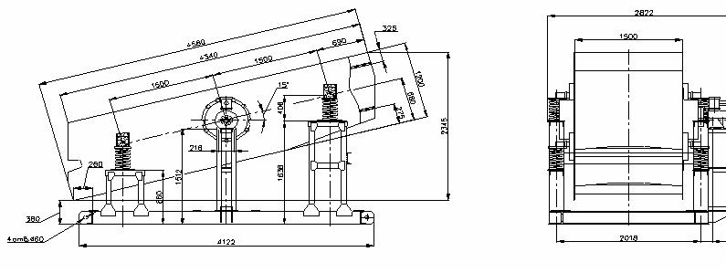 Грохот инерционный ГВи-6,5х2 (Грохот ГИЛ 42 ) опорного исполнения