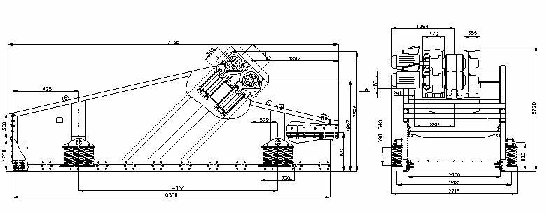 Грохот инерционный самобалансный ГИСЛ 62 У-1-25